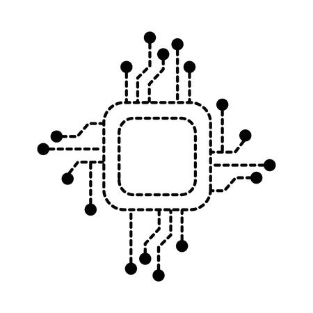 processor circuit electrical icon vector illustration design