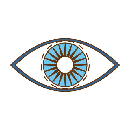 ontwerp van de het pictogram het vectorillustratie van het oog menselijke mening