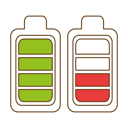 battery levels power icon vector illustration design Standard-Bild - 96662763