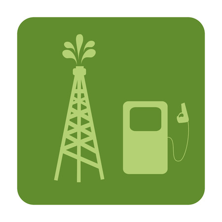 tower and pump oil station vector illustration design Illustration