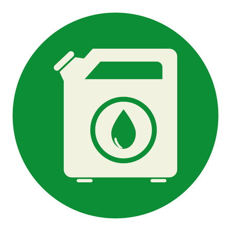 oil gallon tank icon vector illustration design