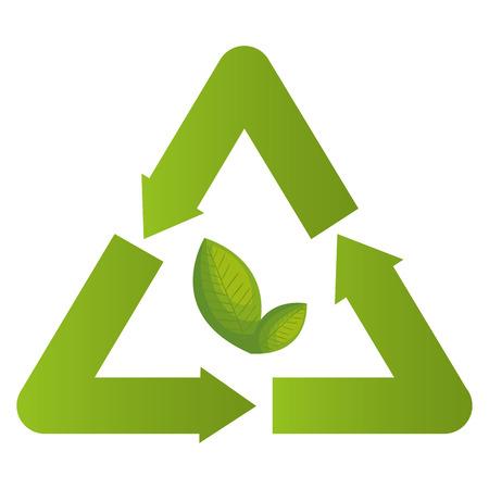 Recycle symbol environmental label vector illustration design Banco de Imagens - 96595259