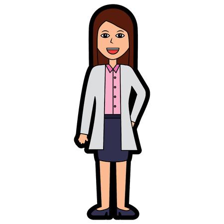 doctor woman happy healthcare icon image vector illustration design Illustration