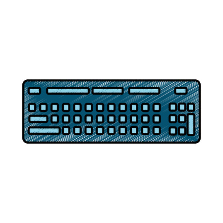 keyboard hardware technology device hardware vector illustration drawing design