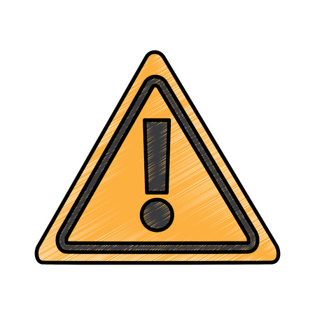 warning alert sign system technology vector illustration drawing design