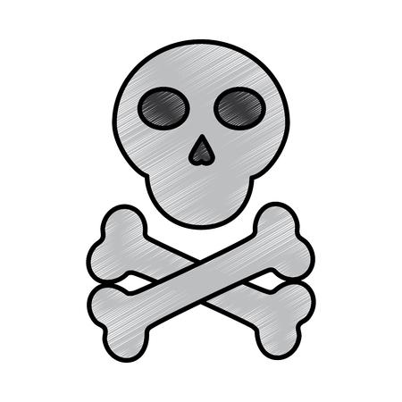 skull cross bones danger alert image vector illustration drawing design 版權商用圖片 - 96605607
