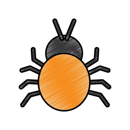 virus bug sign protection error digital vector illustration drawing design 向量圖像