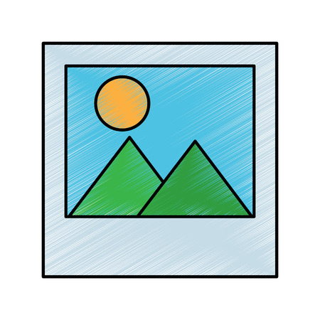 photo gallery album digital icon vector illustration drawing design