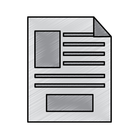 document sheet digital work paper vector illustration drawing design