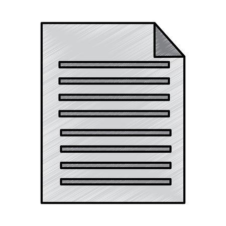 paperwork document file report digital vector illustration drawing design