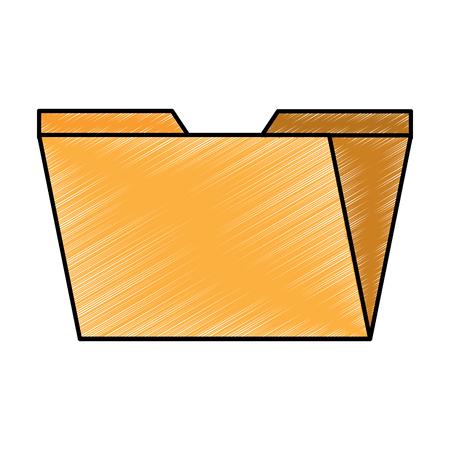 digital folder file archive organization icon vector illustration drawing design Ilustração