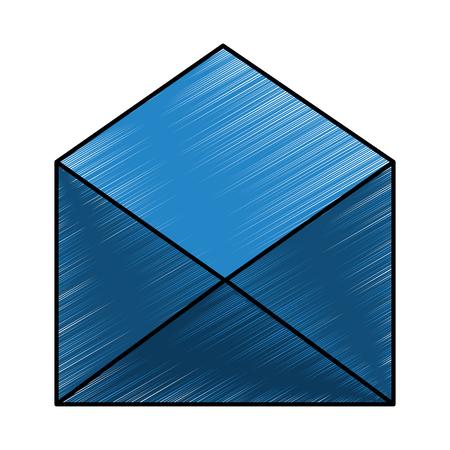 open envelope email letter communication icon vector illustration drawing design Illustration