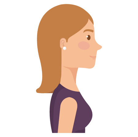 successful business woman avatar character vector illustration design