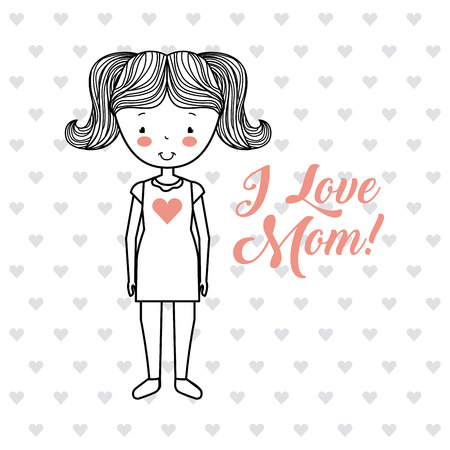 hand drawn happy mothers day image emblem vector illustration design