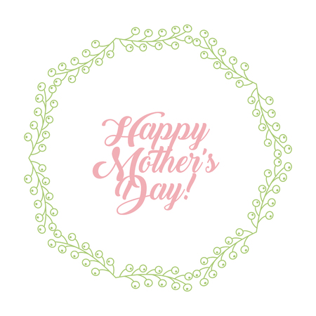 happy mothers day image emblem vector illustration design