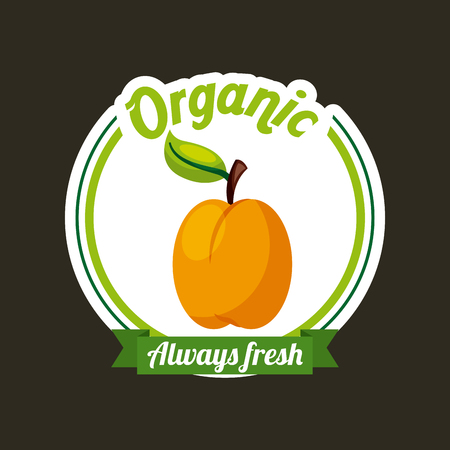 fresh organic food emblem image vector illustration design