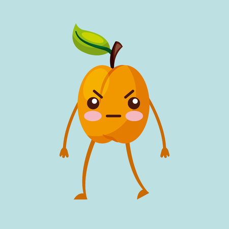 angry fruit  character icon image vector illustration design Illustration
