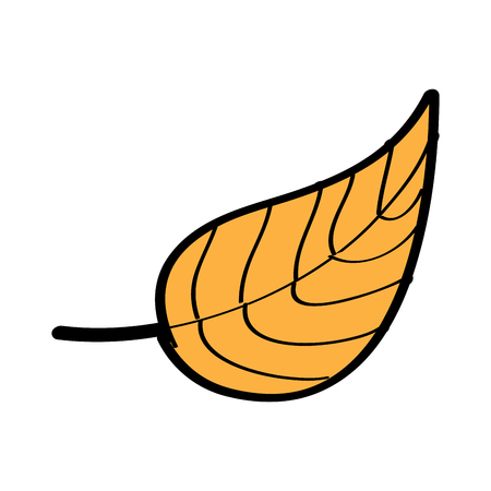 autumn leaf foliage natural icon vector illustration Stock fotó - 96659431