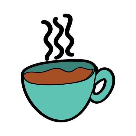 ホットコーヒーカップ新鮮な飲料ベクターイラスト  イラスト・ベクター素材