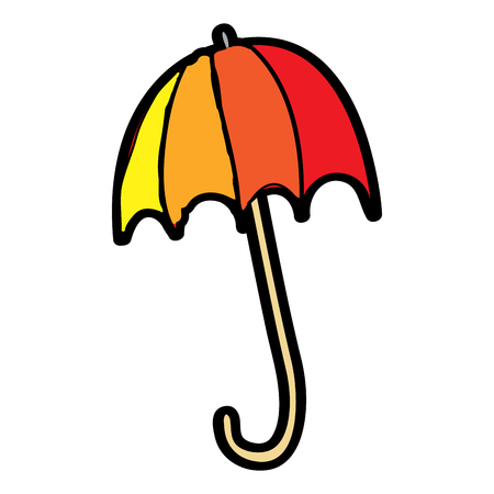 colored open umbrella protection climate season vector illustration Illusztráció