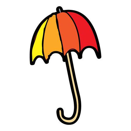 colored open umbrella protection climate season vector illustration Illustration