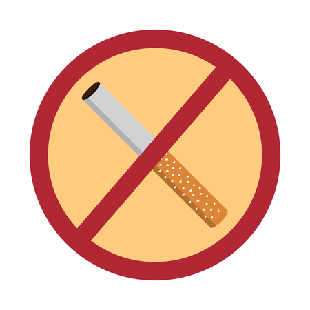 no smoking sign prohibition cigar vector illustration