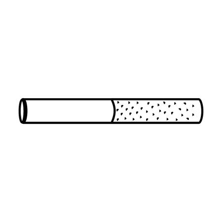 unhealthy bar tobacco cigarette addiction vector illustration  outline design Reklamní fotografie - 96672216
