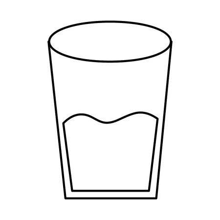 water glass health beverage liquid pure vector illustration  outline design