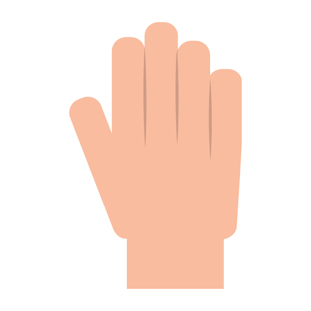 hand showing five finger palm stop vector illustration