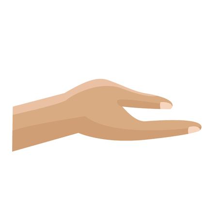 human hand help support gesture vector illustration  向量圖像