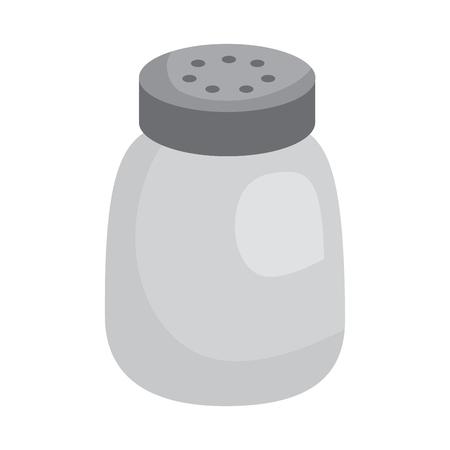 salt shaker seasoning for cooking condiment vector illustration sticker design