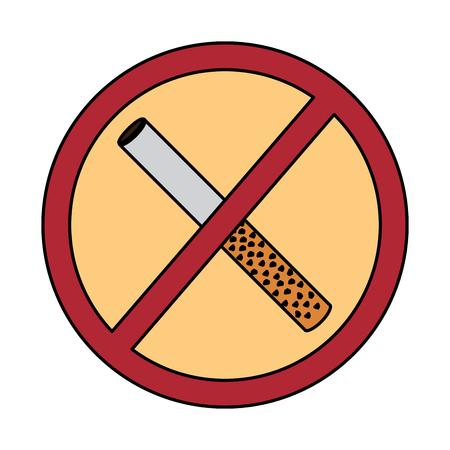 no smoking sign prohibition cigar vector illustration
