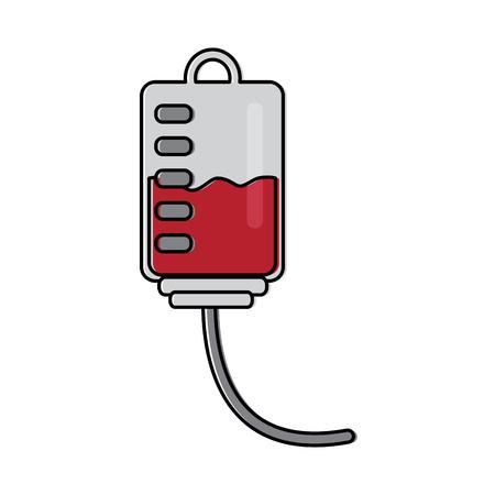 plastic blood bag medical equipment vector illustration