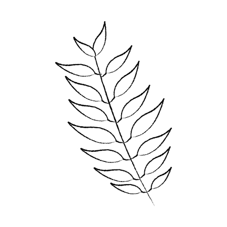tree branch with green leaves plant natural vector illustration sketch image