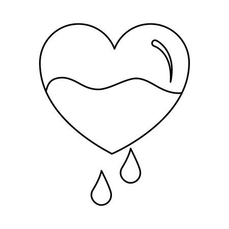 心臓血滴落下予防ケアベクターイラスト
