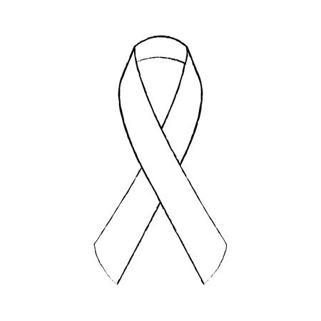 ribbon medical healthcare campaign symbol vector illustration