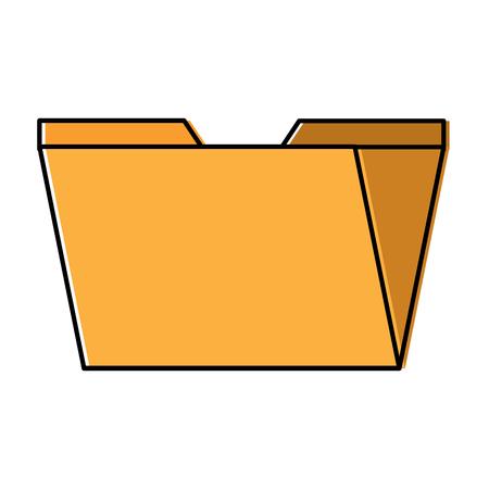 digital folder file archive organization icon vector illustration
