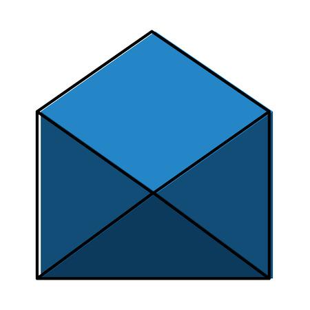 open envelope email letter communication icon vector illustration