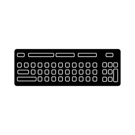 keyboard hardware technology device hardware vector illustration pictogram design