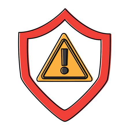 security warnign sign alert problem system technology vector illustration