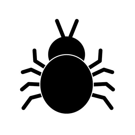 virus bug sign protection error digital vector illustration pictogram design