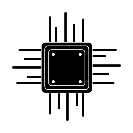 motherboard circuit software electrical technology vector illustration pictogram design