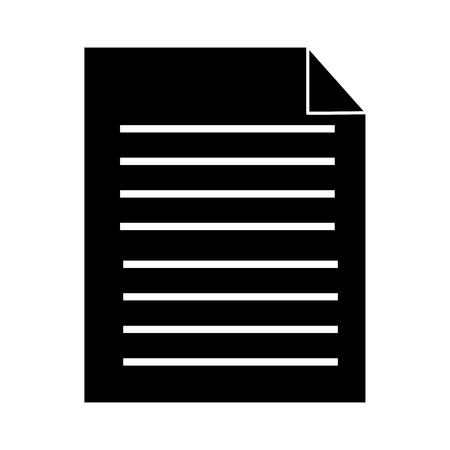 paperwork document file report digital vector illustration pictogram design