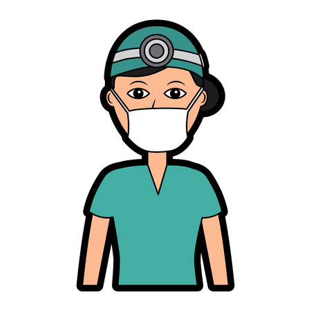 Professional surgeon medical uniform clothes vector illustration Stock Vector - 97364295