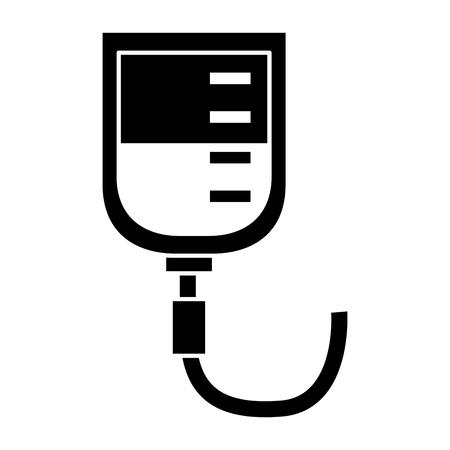 Medical blood bag donation healthcare icon vector illustration Çizim
