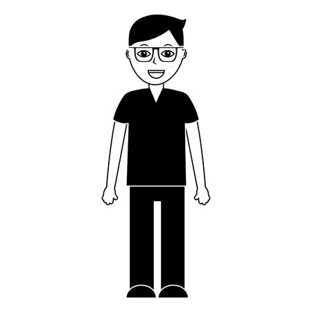 Professional doctor medical uniform standing character vector illustration