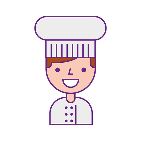 A chef avatar character vector illustration design Stock Illustratie