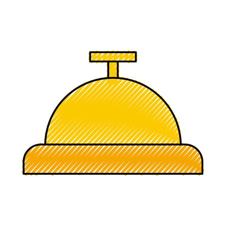 Button bell isolated icon vector illustration design