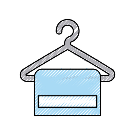 Towel hanging in wire hook vector illustration design  イラスト・ベクター素材