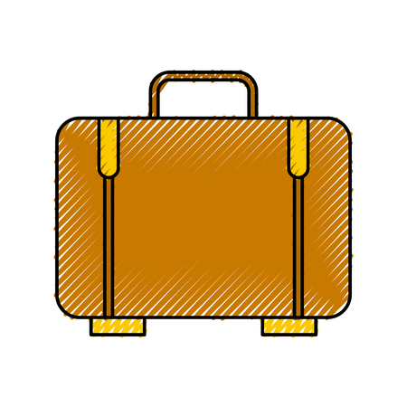 Suitcase travel isolated icon vector illustration design Illustration